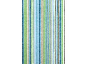 Dash & Albert Fisher Ticking  Outdoor / Indoor Rugs