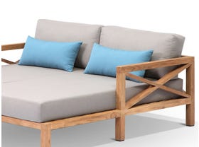 Hampton 2pc Teak Outdoor Chaise Set
