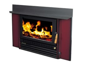 Heatcharm I-600 Series 5 Inbuilt Wood Burning Fireplace in Burgundy