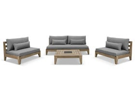 Keppel 5pc Timber Outdoor Lounge Setting