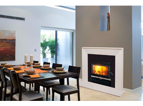Jetmaster Kemlan Coupe Double Sided Inbuilt Wood Burning Fireplace