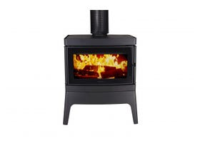 Cleanair Large Freestanding Console Wood Burning Fireplace