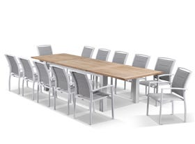 Corfu with Astra 9pc Outdoor Setting -Matte White