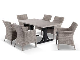 Luna 165 with Maldives 7pc Dining Setting