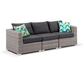 Maldives 6pc outdoor modular sofa setting