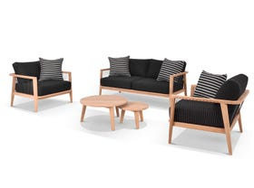 Atoll 4pc Teak Outdoor Lounge Setting