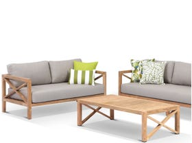 Hampton 3pc Teak Outdoor Lounge Setting