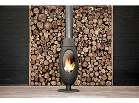Invicta Ove Curved Wood Burning Fireplace