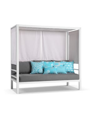 Rio Outdoor Daybed -White / Cast Slate