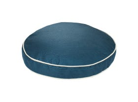 Solid Teal Summer Round Cushion with Piping- 40 x 40