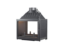 Seguin Multivision 8000 Two Sided Cast Iron Cheminee Fireplace