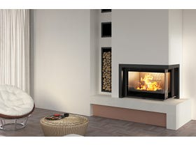 Seguin Europa 7 VL Lift Black Line Glass Cast Iron Cheminee Fireplace