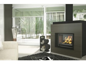 Seguin Visio 8 Plus Lift Black Line Glass Cast Iron Cheminee Fireplace