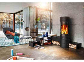 Skantherm Elements Round Slow Combustion Wood Burning Fireplace