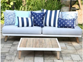 Sorrento 3pc Outdoor Platform Lounge Setting