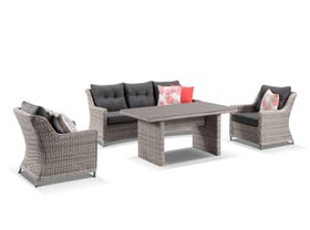 Somerset 4pc  Outdoor Lounge Dining setting