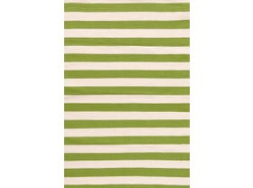 Dash & Albert Trimaran Stripe Outdoor / Indoor Rug In Sprout