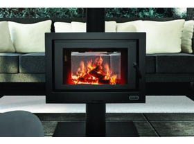 Kemlan Double Sided Cube Freestanding Wood Burning Fireplace